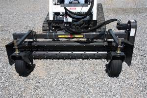 Lawn Harley Rake attachment for a Mini Track Loader - M and M Rental